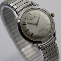 1950s Hamilton / Vantage Men's Automatic 21Jwl Extra Clean Unique Bezel Silver Watch w/ Bracelet