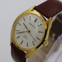 1980 Bulova-Caravelle Men's Gold Watch w/ Strap - Rare Collector's