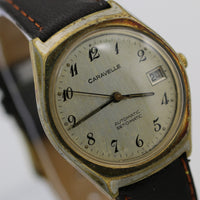1978 Bulova-Caravelle Men's Gold Automatic Set-O-Matic Calendar Watch w/ Strap