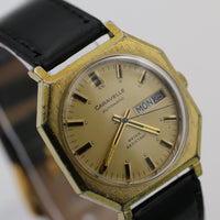 1974 Bulova/Caravelle Men's Gold Automatic Dual Calendar Watch w/ Strap