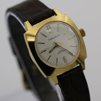 1975 Bulova-Caravelle Swiss Made Gold Interesting Dial Fully Signed Watch