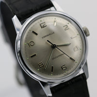 1964 Bulova-Caravelle Men's Silver Automatic 17Jwl Swiss Made Watch w/ Original Strap