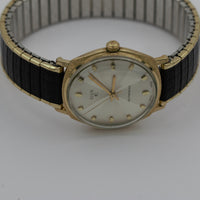 1968 Elgin Men's 10K Gold 17Jwl Octant Dial Automatic Swiss Made Watch w/ Bracelet