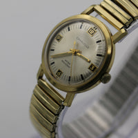 1972 Bulova / Caravelle Mens Gold Watch w/ Bracelet