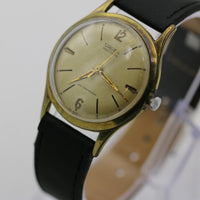 1940s Gruen Men's Swiss Made Gold 17Jwl Watch w/ Strap