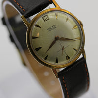 1940s Gruen Men's Gold Swiss Made 17 Jewels Watch w/ Strap