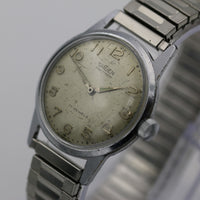 1955 Gruen Men's Silver Swiss Made 17 Jewels Watch w/ Bracelet