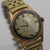 1960s Gruen Swiss Men's Automatic 25Jwl Rose Gold Calendar Watch w/ Bracelet