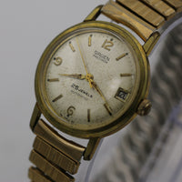 1950s Gruen Swiss Men's Automatic 25Jwl Gold Calendar Watch w/ Bracelet