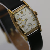 1952 Bulova Men's 10K Gold 17Jwl Swiss Made Fancy Case Watch w/ Strap
