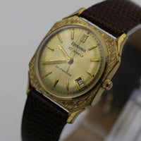 1966 Bulova Men's 10K Gold 30Jwl Automatic USA Watch w/ New Kreisler Lizard