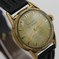 1955 Bulova Men's Automatic 23Jewels Gold Watch w/ New DeBeer Buffalo Strap