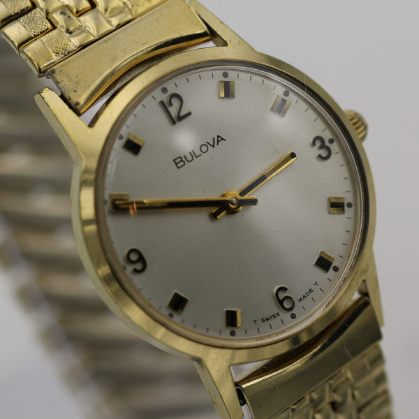 1973 Bulova Men's Gold Swiss Made Gorgeous Dial Watch w/ Bracelet