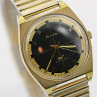 1970 Bulova Men's Swiss Automatic 17Jwl 10K Gold Calendar Quadrant Dial Watch
