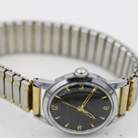 1955 Bulova Men's 17Jwl Swiss Made Silver Military Time Watch w/ Bracelet