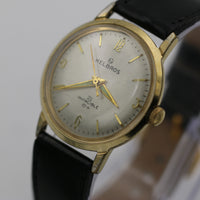 1960s Helbros Invincible Mens Gold 21Jwl Watch w/ Strap