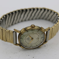 Helbros Men's Swiss Made 17Jwl Gold Diamond Dial Watch w/ Gold Bracelet