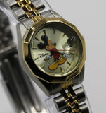 Disney Mickey Mouse Ladies Gold Calendar Watch