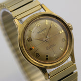 1960s Benrus Men's Swiss Made 25Jwl Automatic Gold Interesting Dial Watch