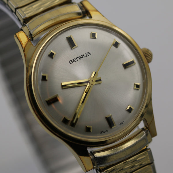 1970s Benrus Men's 17Jwl Gold Watch w/ Bracelet