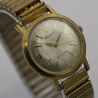 1960s Benrus Men's Swiss 17Jwl Automatic Gold Interesting Dial Watch