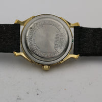 1960s Benrus Men's Swiss 25Jwl Automatic Gold Interesting Dial Watch