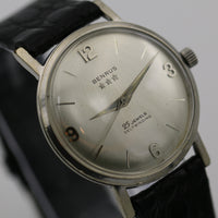 1960s Benrus Men's Silver Gorgeous Dial 25Jwl Automatic Watch w/ Strap