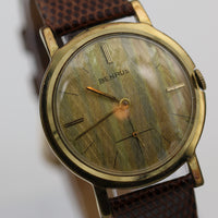 1960s Benrus Men's 10K Gold TwoTone Shimmering Dial Watch