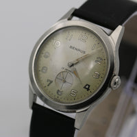 1960s  Benrus Men's Swiss Military Silver 17Jewel Watch