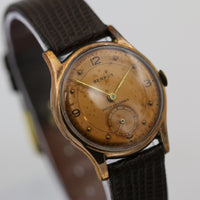 1930s Benrus Men's Swiss Rose Gold Watch