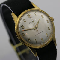 1960s Benrus Men's Swiss Made 17Jwl Gold Thin Fully Signed Watch