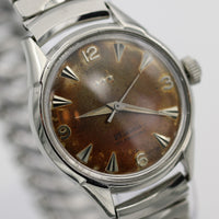 1960s Benrus Men's Swiss Made 25Jwl Automatic Silver Interesting Dial Watch
