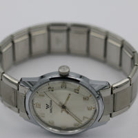 Mint Waltham Men's Swiss Made 17Jwl Silver Watch w/ Bracelet