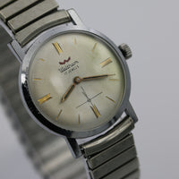 1960s Waltham Mens Swiss Made 17Jwl Silver Watch