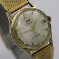 Waltham Men's Swiss 17Jwl Gold Calendar Watch w/ Gold Bracelet