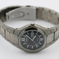 Citizen Titanium Eco-Drive Men's Silver Dual Calendar Watch w/ Bracelet