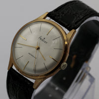 1960s Aggisy Men's Gold 17Jwl Swiss Made Watch w/ Strap
