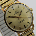 1968 Bucherer Officially Certified Chronometer Men's Gold Swiss Made 17Jwl Watch w/ Bracelet