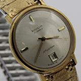 1970s Baylor SkyStar Men's Gold 17Jwl Swiss Made Calendar Watch w/ Bracelet