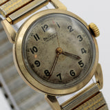 WWII Boulevard 10K Gold Swiss Made Military Style Men's Watch w/ Bracelet