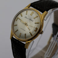 1970s Gervais-Penard Mens Electronic Made in France Gold Watch w/ Lizard Strap