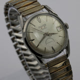 1950s Hilton Men's Silver Automatic 17Jwl Swiss Made Calendar Watch w/ Bracelet