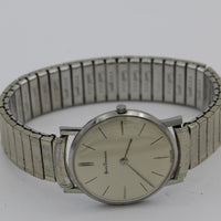 1960s Henri Pommier Men's Swiss Made 17Jwl Silver Thin Watch w/ Bracelet