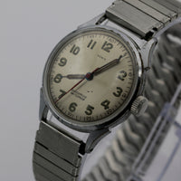 WWII Honig Swiss Made Military Style 17Jwl Men's Silver Watch w/ Bracelet