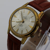 Itraco Men's Gold 17Jwl Swiss Made Alarm Watch w/ New Kreisler Strap