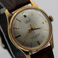 1960s Ideal Gold 17Jwl Swiss Made Watch w/ Strap