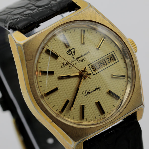 Jules Jurgensen Men's Swiss Made Automatic Dual Calendar Gold Watch w/ Strap