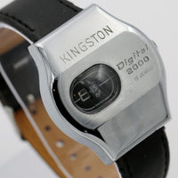1970s Kingston Men's Swiss Made Silver 17Jwl Digital 2000 Dial Watch w/ Strap