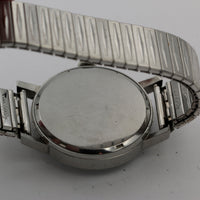1960s Lorenz Men's Silver Swiss Made Large Watch w/ Bracelet