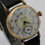 1900s Marlboro Men's Gold Swiss Made 7Jwl Watch w/ Swiss Made Strap